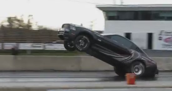2013 Ford Mustang Cobra Jet Wheelie Gone Wrong