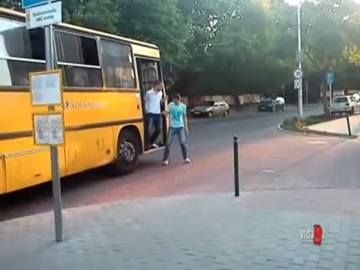 Two Friends Trolling a Bus Driver