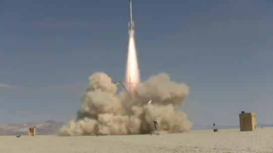 Camera Mounted to a Hand-Made Rocket
