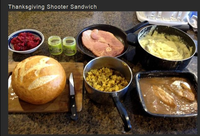 Thanksgiving Shooter Sandwich (9 pics)