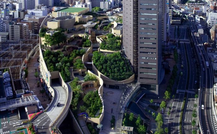 Rooftop Park in Osaka, Japan (14 pics)