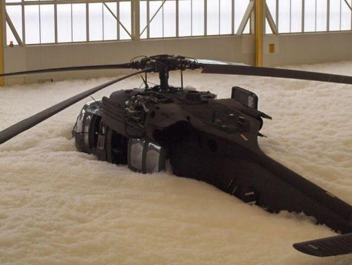 Fire Test Fail. Black Hawks Covered with Foam (16 pics)