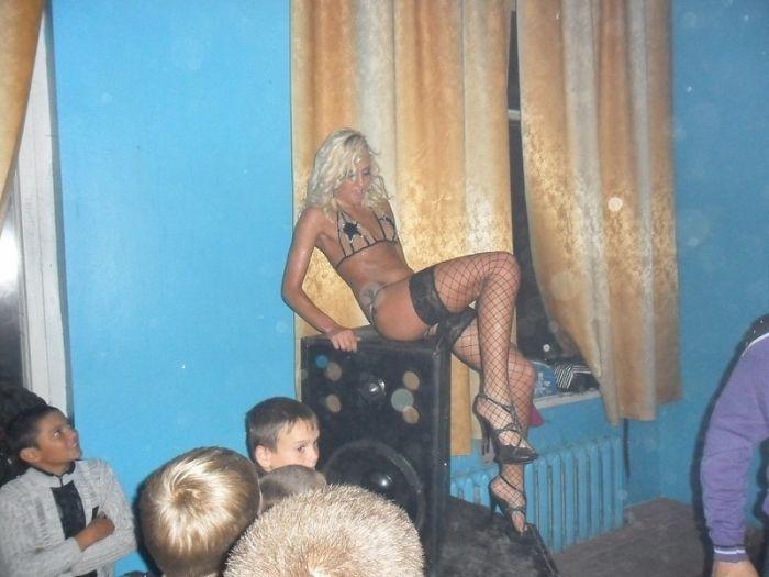 Striptease in a Russian School (4 pics)