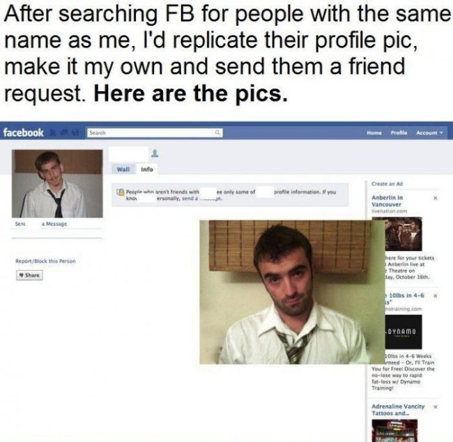 Facebook Profile Picture Replication (8 pics)