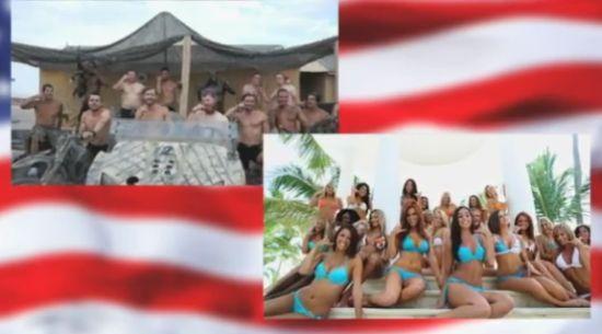 Cheerleaders vs American Soldiers