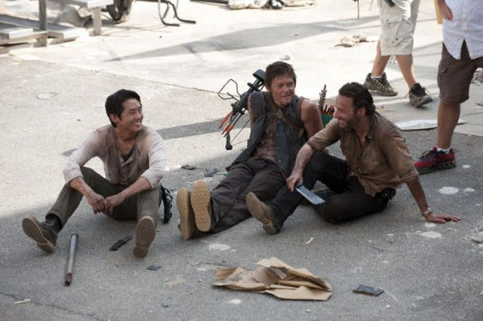 "Detras de escena de ""The walking dead"""
