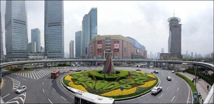 Pedestrian Circle Bridge in China (6 pics)