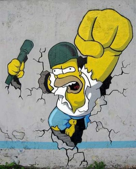 The Simpsons Street Art (28 pics)
