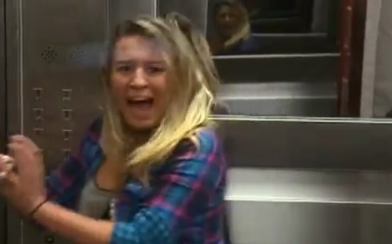 Scary Elevator With a Dead Man Prank