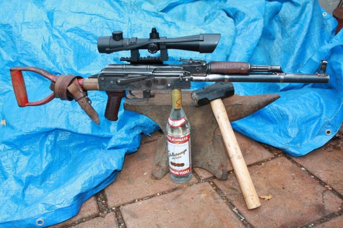 AK-47 Made out of a Shovel (49 pics)
