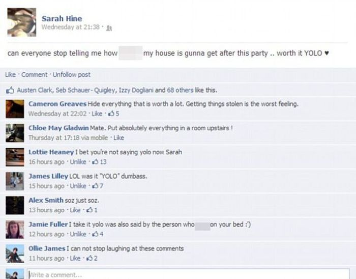 Facebook Party Disaster (9 pics)