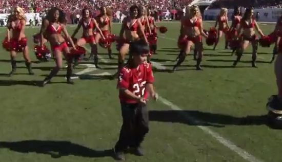 Little Boy Dancing Like Cheerleaders