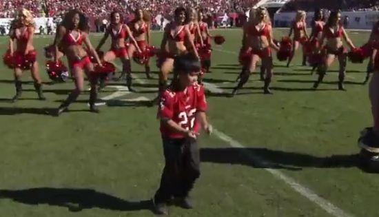 Little Boy Dancing Like Cheerleaders