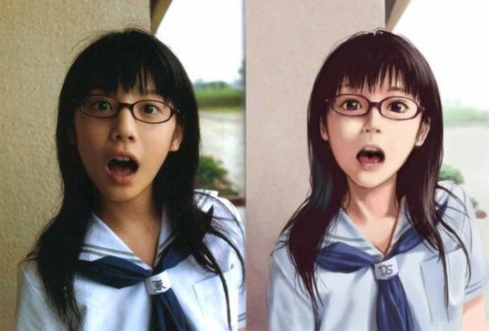 Anime Girls vs Real Life Girls (25 pics)