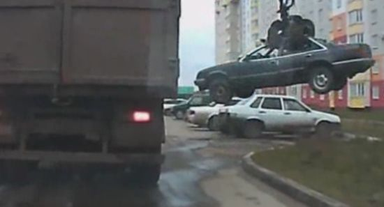 Russian Way to Tow a Car