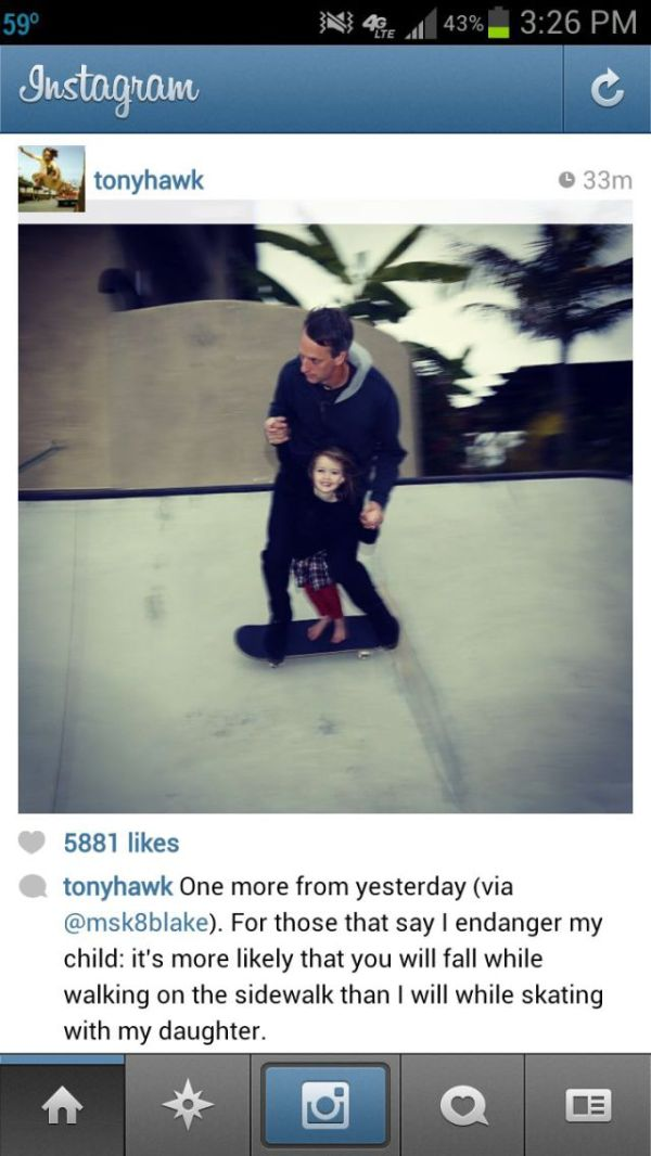 Tony Hawk is a Great Dad (3 pics)