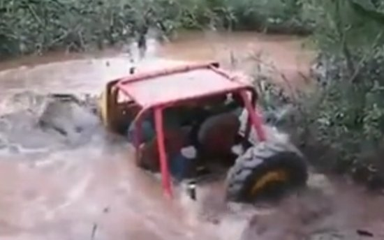 Crazy Jeep Pool Ride