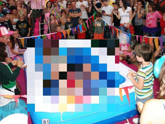 Topless Glitter Wrestling