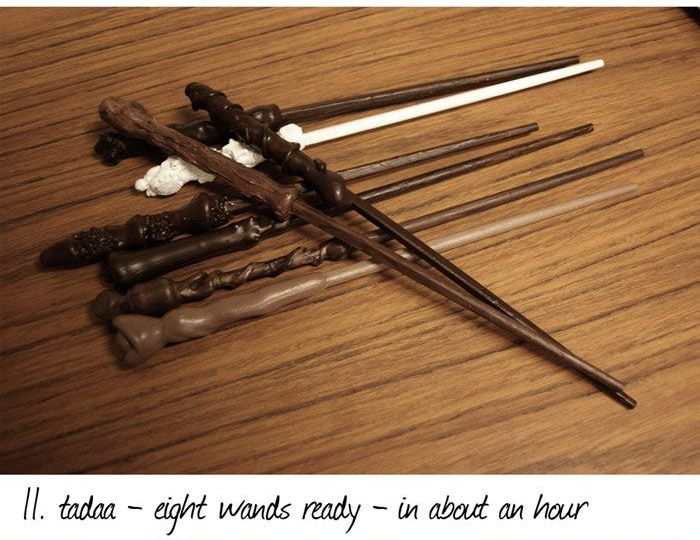 diy harry potter style wands 12 pics. Black Bedroom Furniture Sets. Home Design Ideas