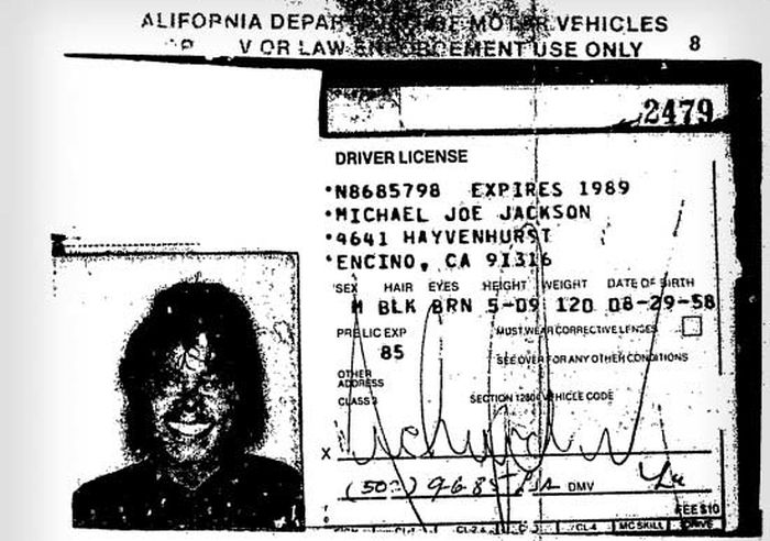 Michael Jackson's Final Driver's License (2 pics)