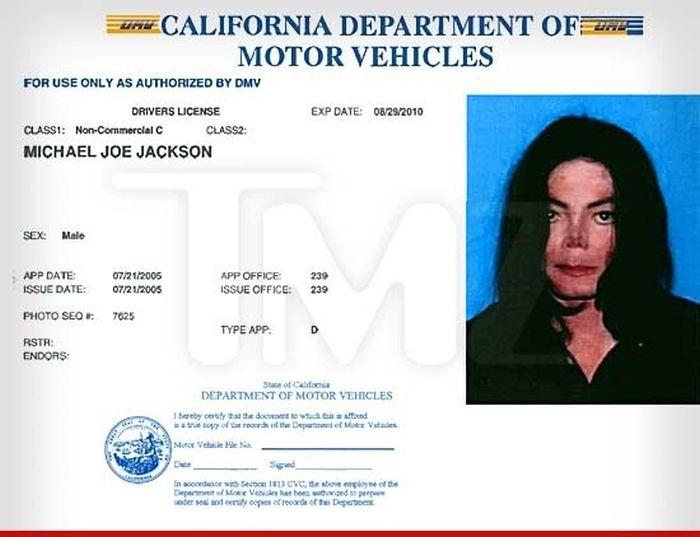 Michael Jackson's Final Driver's License (2 pics)