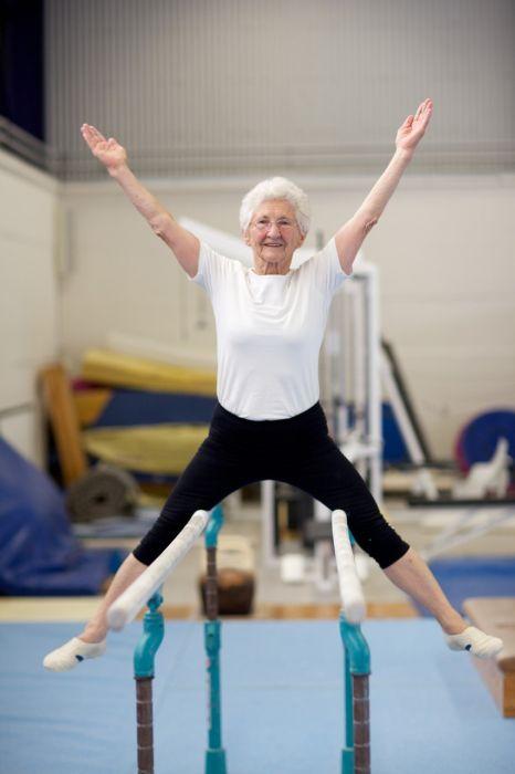 86-Year-Old Grandma Still Doing Gymnastics (24 pics)
