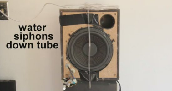Incredible Water Tricks in Front of a Speaker