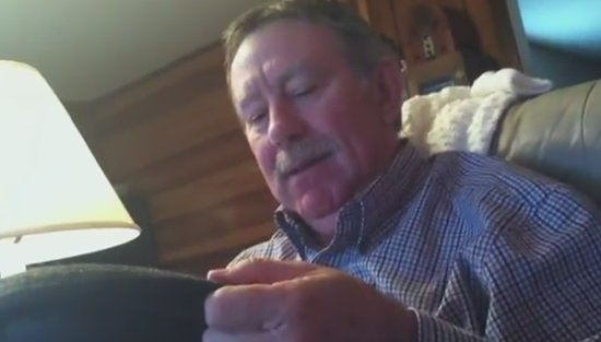 Grandfather's Reaction to Christmas Present