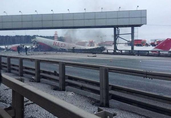 Spectacular Video of Russia Plane Crash