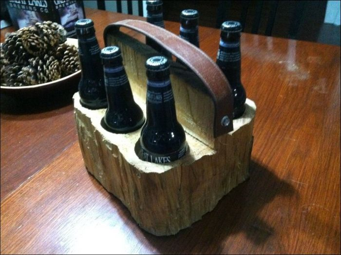 DIY Wooden Six Pack Carrier (20 pics)