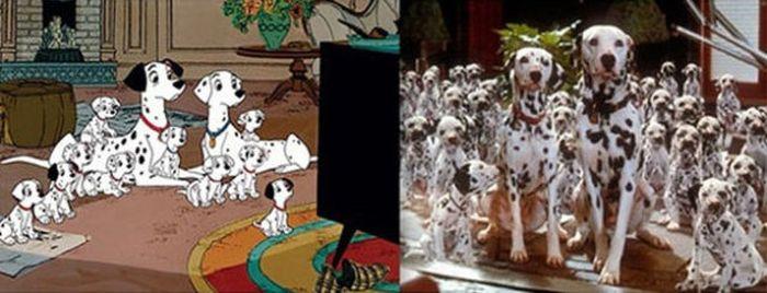Animals. Animation vs Real Life (20 pics)