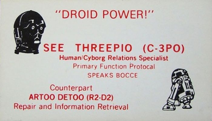 Star Wars Business Cards (12 pics)