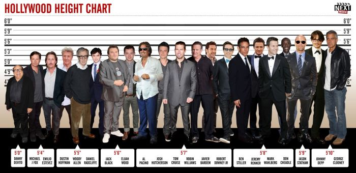Chart: The Height of Hollywood Stars