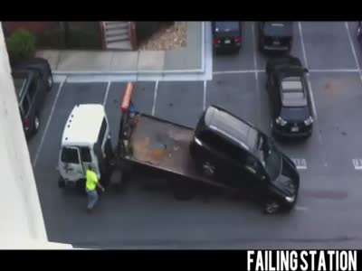 Stupid Truck Driver And a SUV