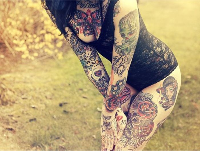 Tattooed Girls (60 pics)