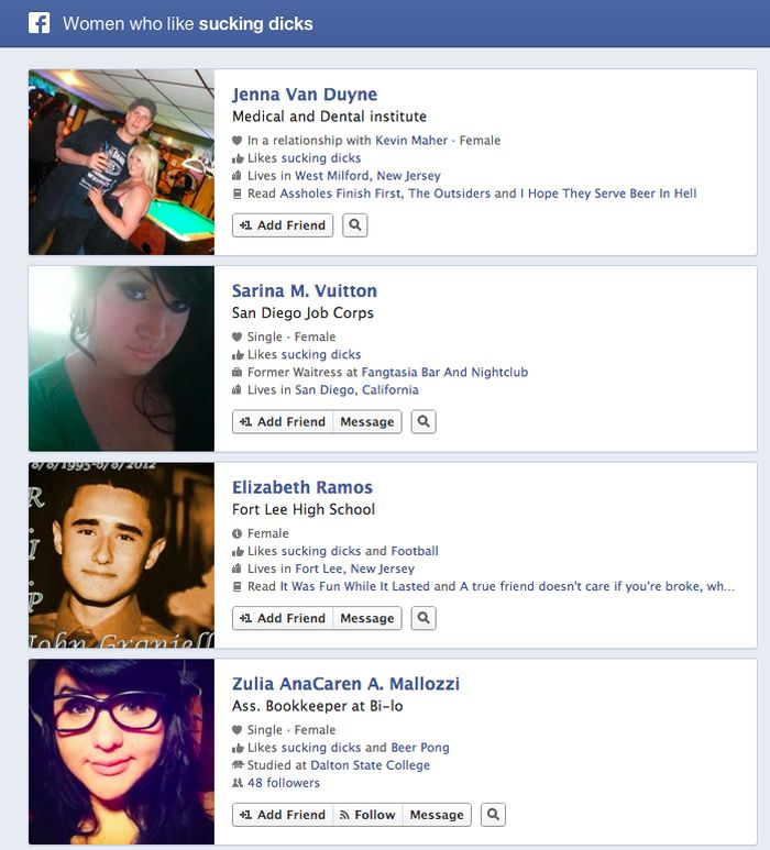 Facebook Graph Search (7 pics)