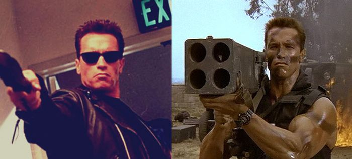 Arnold Schwarzenegger Looks Exactly The Same In Every Photo (8 pics)