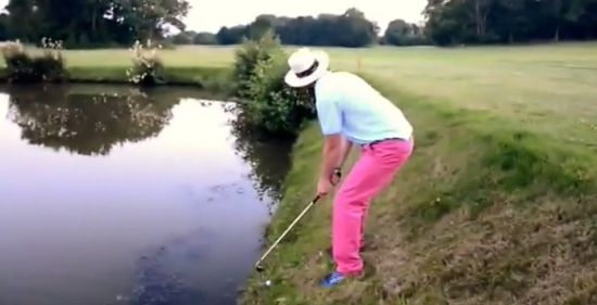 Hard Golf Shot Gone Wrong