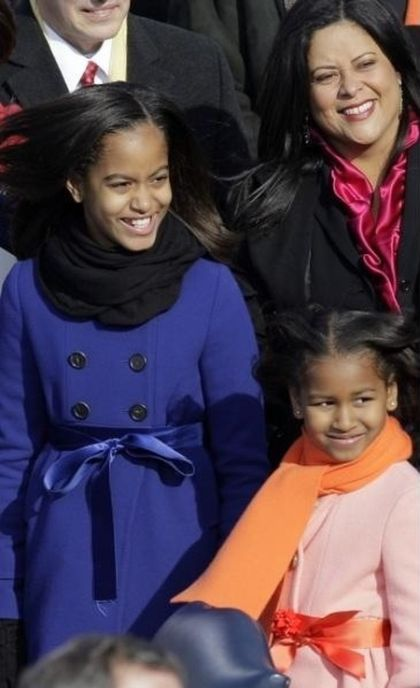 Sasha and Malia Obama, 2009 vs 2013 (2 pics)