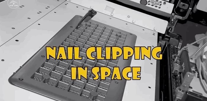 How To Clip Your Nails In Space (6 gifs)