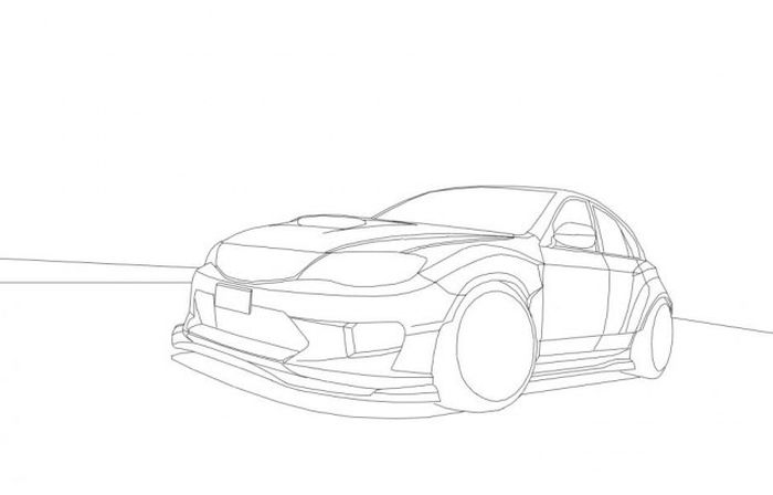 How to Draw Subaru Impreza (11 pics)