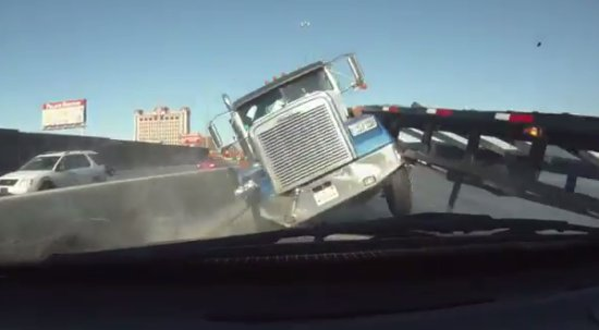 Unexpected Truck Accident Close Call