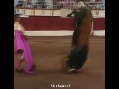 Weird Corrida Bull Jump