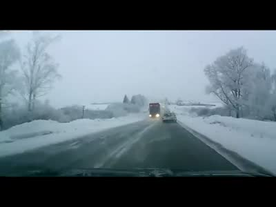 Unexpected Accident on The Icy Road