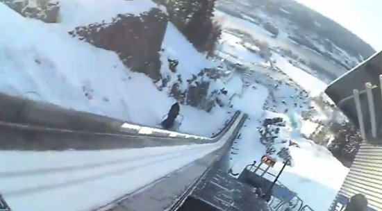 The Highest Ski Jump Trampoline Scary Flight