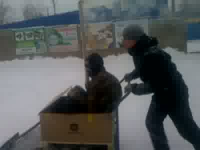 Russian Way To Clear Streets of Snow