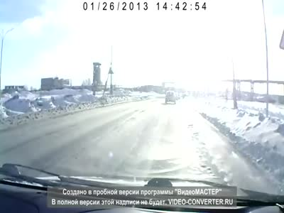 Unexpected Tank on The Road in Russia