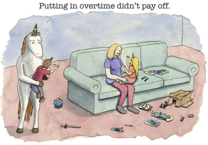"Adult Cartoon ""Why Unicorn Drinks"" (12 pics)"