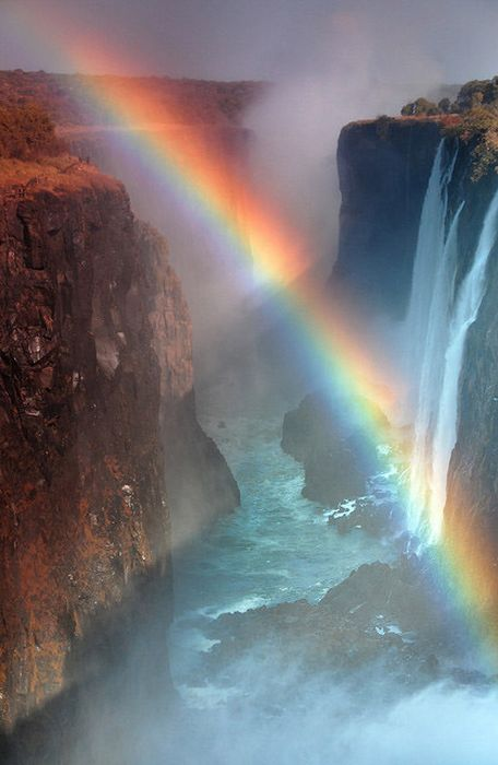 Amazing Double Rainbow Over Victoria Falls (12 pics)