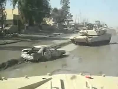 Unexpected Bomb Explosion Under a Tank